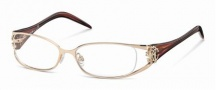 Roberto Cavalli RC0479 Eyeglasses Eyeglasses - 028 - Rose gold- melange green/rose
