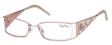 Roberto Cavalli RC0481 Eyeglasses Eyeglasses - 072 - Pink- ice white/wisteria violet/coral red stamped lizzard leather insert