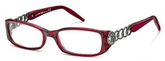 Roberto Cavalli RC0494 Eyeglasses Eyeglasses - 068 - Melange red, gunmetal (Discontinued Color NLA)
