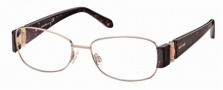 Roberto Cavalli RC0544 Eyeglasses Eyeglasses - 034 - Light bronze, havana/pearl antique rose temples