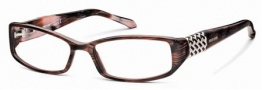 Roberto Cavalli RC0558 Eyeglasses Eyeglasses - 068 - Melange ruby red/rose, rhodium