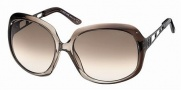 Roberto Cavalli RC522S Sunglasses Sunglasses - 20F - Transparent dark brown shaded grey, gunmetal, gradient brown lenses
