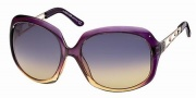 Roberto Cavalli RC522S Sunglasses Sunglasses - 59Z - Transparent violet shaded amber, rose gold, amber gradient violet lenses