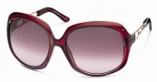 Roberto Cavalli RC522S Sunglasses Sunglasses - 81Z - Transparent red shaded violet, rose gold, gradient violet lenses