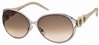 Roberto Cavalli RC588S Sunglasses Sunglasses - 34F Olive, Brownish Transparent.  gradient brown, violet lenses