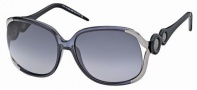 Roberto Cavalli RC589S Sunglasses Sunglasses - 20F Gold, Black, Violet, gradient gray lenses