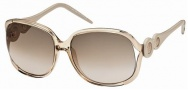 Roberto Cavalli RC589S Sunglasses Sunglasses - 34F Gold, Brownish Transparent.  gradient brown lenses