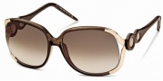 Roberto Cavalli RC589S Sunglasses Sunglasses - 48F Brown, Coffee, Gold, Gradient brown lenses