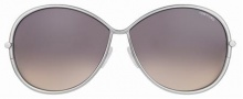 Tom Ford FT0180 Iris Sunglasses Sunglasses - 14B Silver-Dark Blue-Clear Brown/Graduated Brown