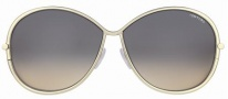 Tom Ford FT0180 Iris Sunglasses Sunglasses - 28B Gold Black/Gray Violet Shaded