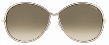 Tom Ford FT0180 Iris Sunglasses Sunglasses - 34P Rose Gold Brown/Brown Shaded