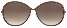 Tom Ford FT0180 Iris Sunglasses Sunglasses - 48F Brown-Coffee/Brown Shaded Lens