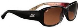 Serengeti Giuliana Sunglasses Sunglasses - 7462 Black Abstract / Drivers Polarized