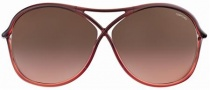 Tom Ford FT0184 Vicky Sunglasses Sunglasses - 50F Dark Brick Shaded/dark Brown Red Shaded