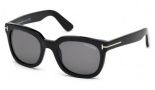 Tom Ford FT0198 Campbell Sunglasses Sunglasses - 01A Shiny Black / Smoke