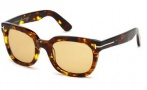 Tom Ford FT0198 Campbell Sunglasses Sunglasses - 52J Dark Havana / Roviex
