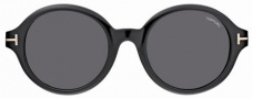 Tom Ford FT0199 Sunglasses Sunglasses - 01A Black/Dark Gray Lens