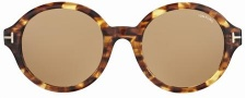 Tom Ford FT0199 Sunglasses Sunglasses - 52J Amber Havana/light Brown