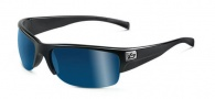 Bolle Zander Sunglasses Sunglasses - 11375 Shiny Black / Polarized Offshore Blue