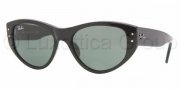 Ray-Ban RB4152 Sunglasses Vagabond Sunglasses - 601  BLACK CRYSTAL GREEN
