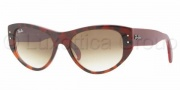 Ray-Ban RB4152 Sunglasses Vagabond Sunglasses - 106751 Top Red Gradient Havana on Pink Crystal / Brown Gradient
