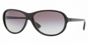 Ray-Ban RB4153 Sunglasses Sunglasses - 601/32 BLACK CRYSTAL GRAY GRADIENT
