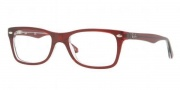 Ray-Ban RX5228 Eyeglasses Eyeglasses - 5112 Top Bordeaux / Trans Demo Lens