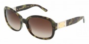 Dolce & Gabbana DG4086 Sunglasses Sunglasses - 173513 Green Havana / Brown Gradient