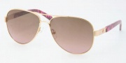 Tory Burch TY6010 Sunglasses Sunglasses - 106/13 GOLD BROWN GRADIENT