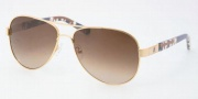 Tory Burch TY6010 Sunglasses Sunglasses - 116/13 TAUPE BROWN GRADIENT