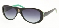 Tory Burch TY7016 Sunglasses Sunglasses - 918/11 BLACK/YELLOW/GREEN GREY GRADIENT