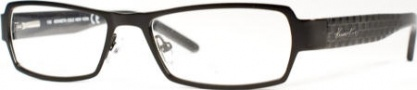 Kenneth Cole New York KC0129 Eyeglasses Eyeglasses - 001 Semi Shiny Black/Demo Lens