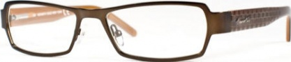 Kenneth Cole New York KC0129 Eyeglasses Eyeglasses - 048 Semi Shiny Brown/Demo Lens