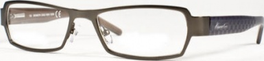 Kenneth Cole New York KC0129 Eyeglasses Eyeglasses - 008 Semi Shiny Gunmetal/Demo Lens