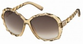 Swarovski SK0002 Sunglasses Sunglasses - 39G Transparent Honey/Brown Lens