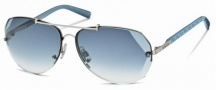 Swarovski SK0006 Sunglasses Sunglasses - 16W Silver/Azure Lens