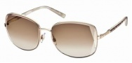 Swarovski SK0007 Sunglasses Sunglasses - 28F Gold/Brown Lens