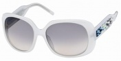 Swarovski SK0008 Sunglasses Sunglasses - 21W Opaque White/Light Grey Lens