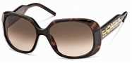 Swarovski SK0008 Sunglasses Sunglasses - 52F Havana/Brown Lens
