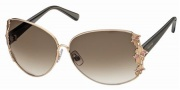 Swarovski SK0010 Sunglasses Sunglasses - 028 Gold/Brown Lens