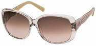 Swarovski SK0012 Sunglasses Sunglasses - 57F Transparent Pink/Brown Lens