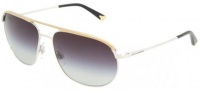 Dolce & Gabbana DG2092 Sunglasses Sunglasses - 024-8G Silver / Gold Grey Gradient