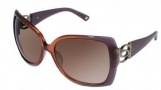 Bebe BB 7001 Sunglasses Sunglasses - Amethyst / Brown Gradient