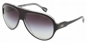D&G DD 3059 Sunglasses Sunglasses - 675/8G Black on Crystal Gray Grad.