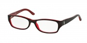 Ralph Lauren RL6058 Eyeglasses Eyeglasses - 5255 Top Havana / Red Demo Lens