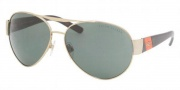 Ralph Lauren RL7032 Sunglasses Sunglasses - 911671 Pale Gold / Green