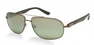 Prada PR 57NS Sunglasses Sunglasses - 7OI7Y1 Dark Bronze / Crystal Polarized Green Silver Mirror