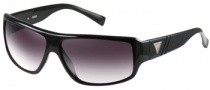 Guess GU 6556 Sunglasses Sunglasses - BLK-35: Black / Gray Flash