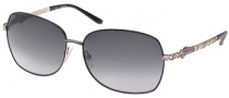 Guess GU 7033 Sunglasses Sunglasses - BLK-35: Black / Gold