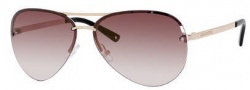Juicy Couture Genre/s Sunglasses Sunglasses - 03YG Shiny Light Gold (WQ Browngradgldmir Lens)